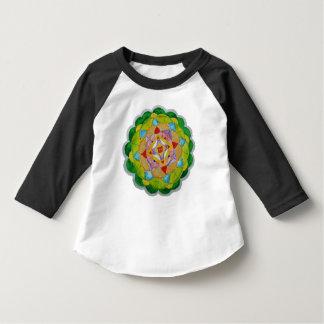 Mandala Toddler 3/4 Sleeve Raglan T-Shirt, Black Tee Shirt