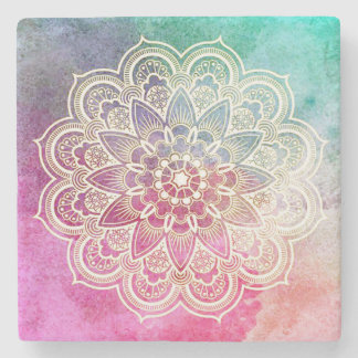 Mandala, Tyedye, Spiritual Marble Coasters