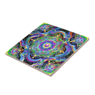 Mandala Universe Colors Tile