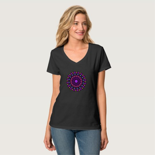 Mandala with purples T-Shirt