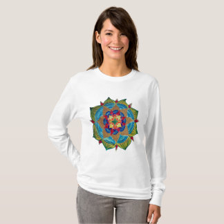 Mandala Women's Basic Long Sleeve T-Shirt, T-Shirt