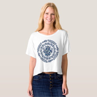 Mandala Women's Bella+Canvas Boxy Crop Top T-Shirt