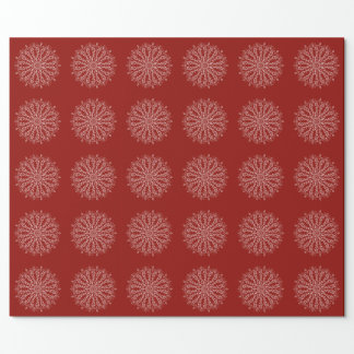 Mandala Wrapping Paper - Deep Red