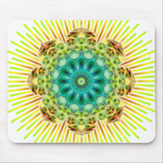 Mandala yellow green | make your own background mousepads