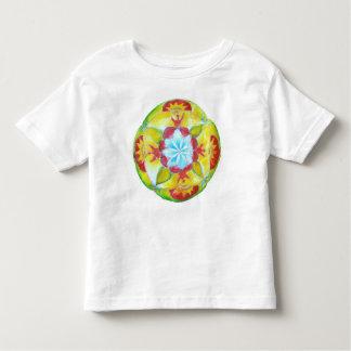 Mandala ,Yellow Round hand painted Mandala Toddler T-Shirt