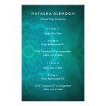 Mandala Zen Teal Turquoise Blue Yoga Flyer