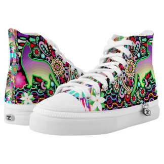Mandalas, Cats & Flowers Fantasy Pattern High Tops