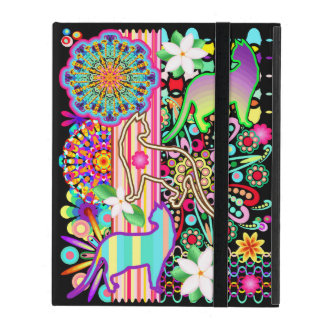 Mandalas, Cats & Flowers Fantasy Pattern iPad Case