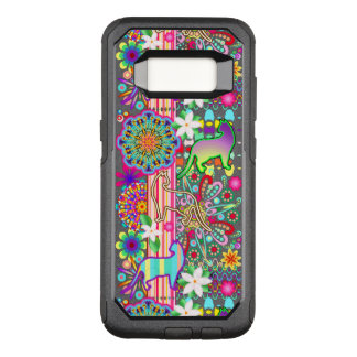 Mandalas, Cats & Flowers Fantasy Pattern OtterBox Commuter Samsung Galaxy S8 Case
