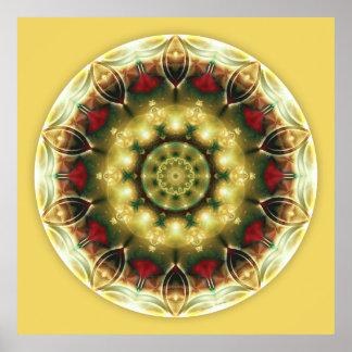 Mandalas for a New Earth, No. 19 Poster