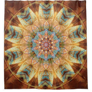 Mandalas from the Heart of Change 4 Shower Curtain