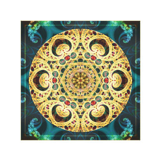 Mandalas from the Heart of Freedom 22 Canvas Print