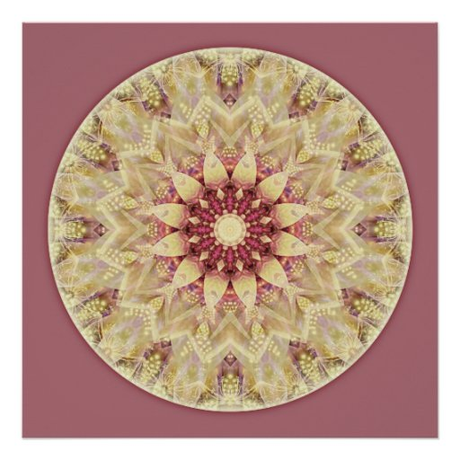 Mandalas from the Heart of Peace, No. 2 Poster