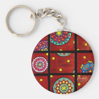 Mandalas In Motion Basic Round Button Key Ring
