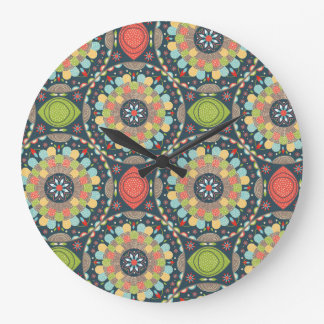 Mandalas Large Clock