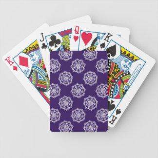 Mandalas on Purple Bicycle Playing Cards