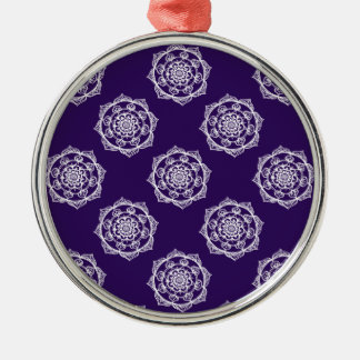 Mandalas on Purple Christmas Ornament