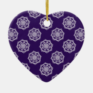 Mandalas on Purple Christmas Ornament