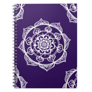 Mandalas on Purple Notebook
