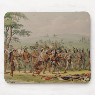 Mandan Archery Contest, c.1832 Mouse Mat