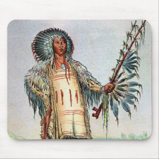 Mandan Indian Ha-Na-Tah-Muah, Wolf chief Mouse Pad