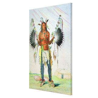 Mandan Medicine Man Canvas Print