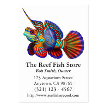 Mandarin Dragonet Goby Fish Business Card