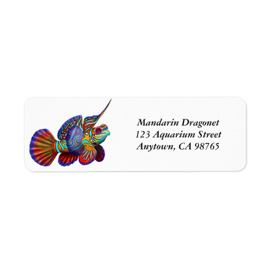 Mandarin Dragonet Goby Fish Label