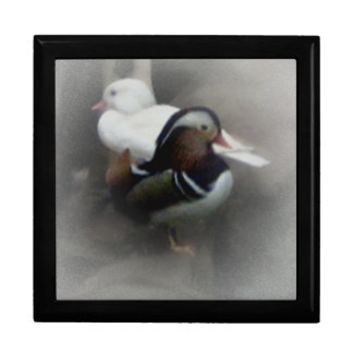 Mandarin Duck and Friend Large Square Gift Box
