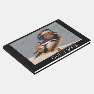 Mandarin Duck Bird Wildlife Animal Guest Book