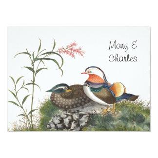 Mandarin Duck Chinese Painting Custom Invitations