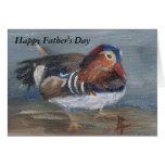 Mandarin Duck Father's Day Card
