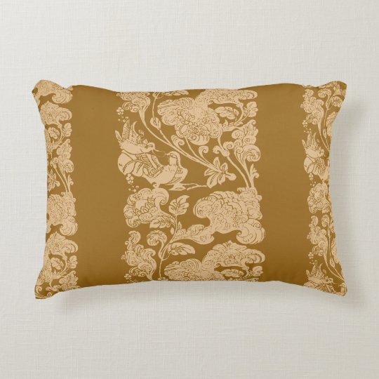 mandarin duck golden age decorative cushion
