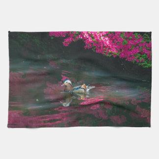 Mandarin Duck kitchen towel