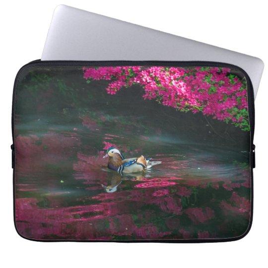 Mandarin duck laptop sleeve