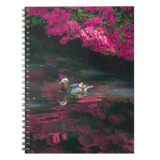 Mandarin duck notebook