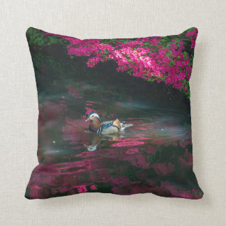 Mandarin Duck throw cushion