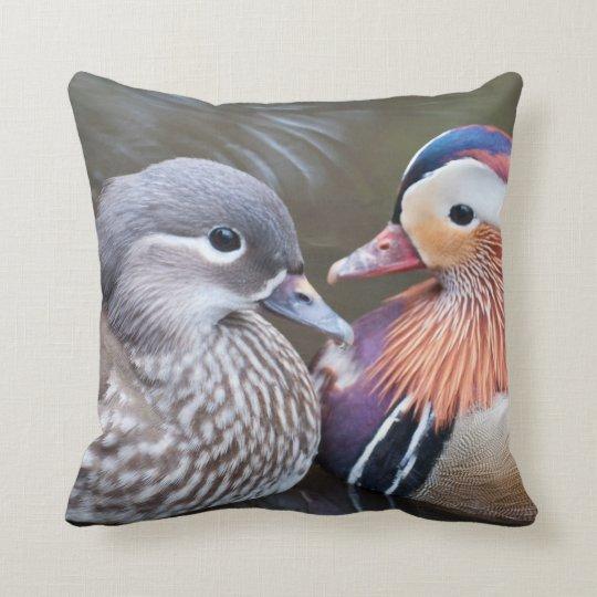 Mandarin Ducks on Throw Pillow