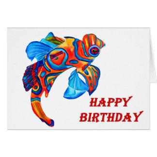 Mandarin fish design birthday card