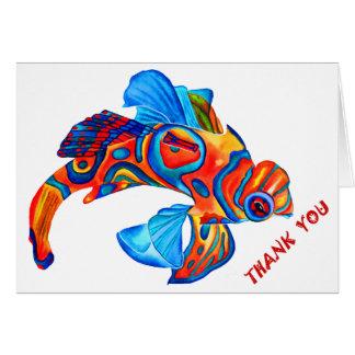 "Mandarin fish design ""thank you"" card"