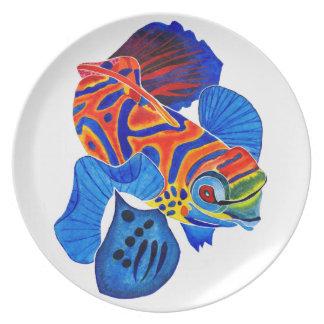 Mandarin Fish dinner/decorative plate
