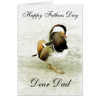MANDARINE DUCK FATHERS DAY GREETING CARD