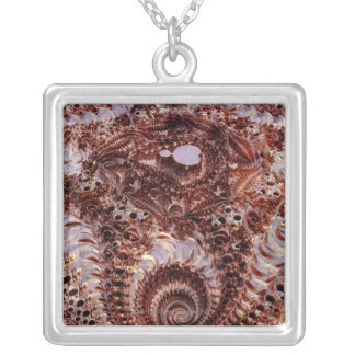 Mandebrot Silver Plated Necklace