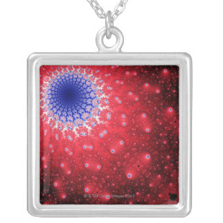 Mandelbrot 4 silver plated necklace