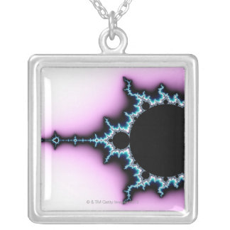 Mandelbrot 5 silver plated necklace