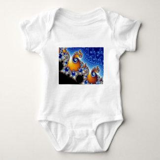 Mandelbrot Blue Double Spiral Fractal Baby Bodysuit