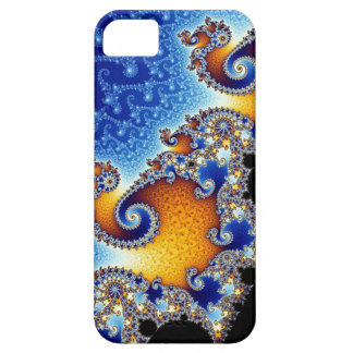Mandelbrot Blue Double Spiral Fractal iPhone 5 Cover