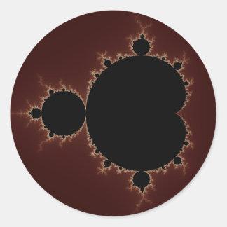 Mandelbrot Set 08 - Fractal Round Sticker