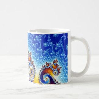 Mandelbrot Set Satellite Double Spiral Fractal Basic White Mug