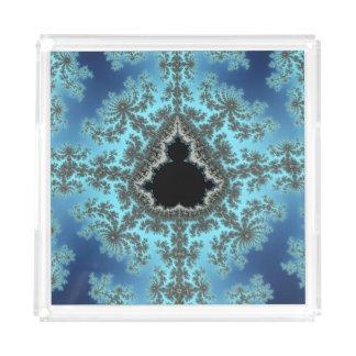 Mandelbrot Snowflake - baby blue fractal design